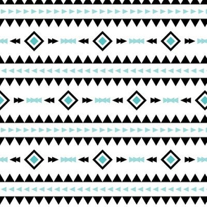 geo joe no.5 tribal aztec triangle geometric modern pattern