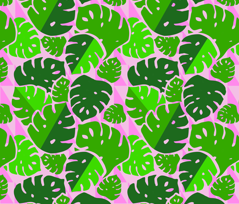 Monstera Bash fabric by allisonbeilkedesigns on Spoonflower - custom fabric