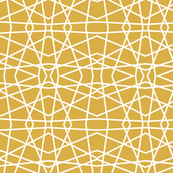 Abstract Lines - Mustard