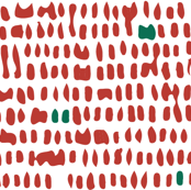 Abstract Dots - Red & Green