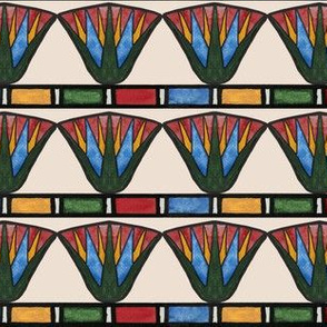 Egyptian Lotuses (colorblock)