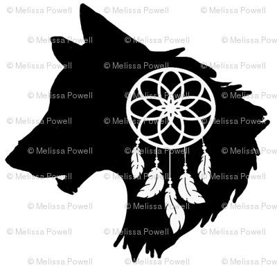 wolf spirit animal dream catcher totem wallpaper - lissame73