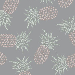 scattered pi-napples - peach, cucumber, grey