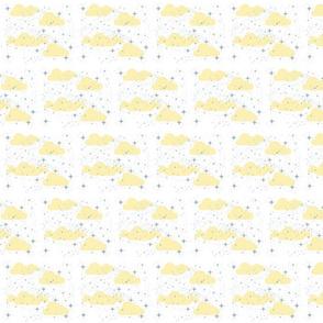 Starry Night SMALL  Cream Puff