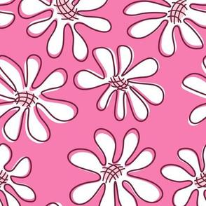 Gerberas Bright Trio - Big Florals in White