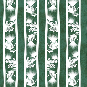 Lehua Stripes Dark Green 300