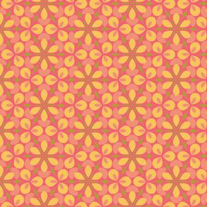 Pink Floral Geometric