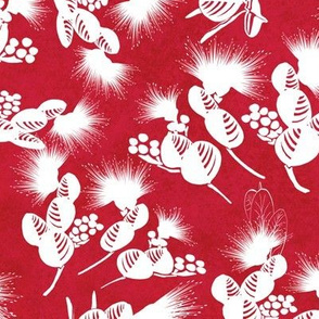 Lehua Branches Ginger Red 300