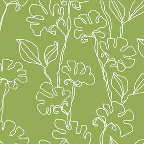 Fresias in Soft Green