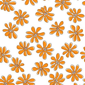 Gerberas Bright Trio - Small Florals in Orange