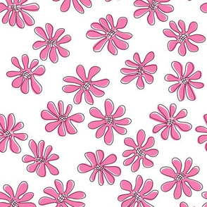 Gerberas Bright Trio - Small Florals in Pink