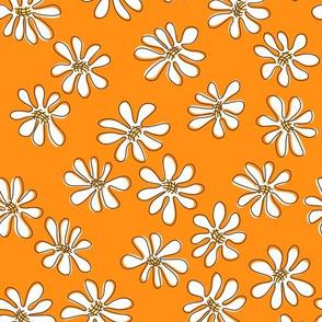 Gerberas Bright Trio - Small Florals in White