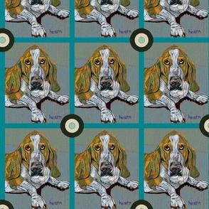 Basset Hound Bullseye (Pastel)