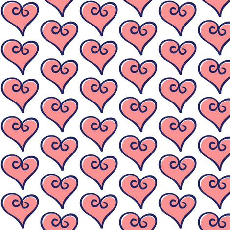 OF Balloons - Coordinating Hearts #1 fabric by fabricology on Spoonflower - custom fabric