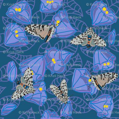 leopard moth in moonflowers [peri]