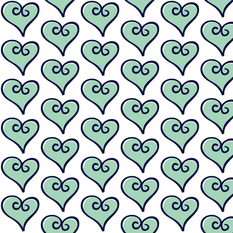 OF Balloons - Coordinating Heart #4 fabric by fabricology on Spoonflower - custom fabric