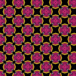 Geometric Rose-Black