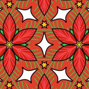 Christmas poinsettia kaleidoscope