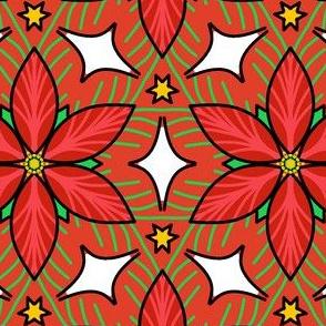 Christmas poinsettia kaleidoscope