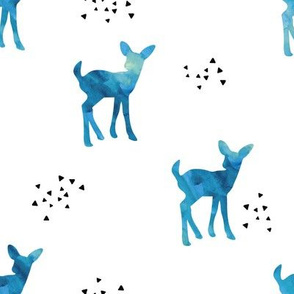 watercolor fawn // blue