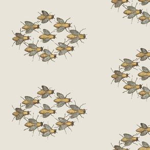 Bee Honey Bees - Flight Formation