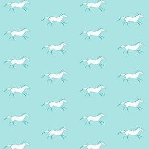 horse blue