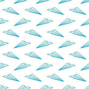 Paper Airplanes (Blue Outline)