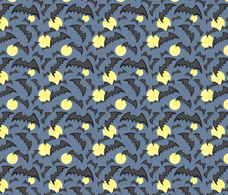 Just Batty MIDNIGHT fabric by jewelraider on Spoonflower - custom fabric