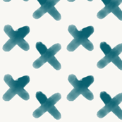 Watercolor crosses - indigo blue || by sunny afternoon