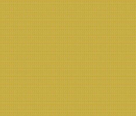 Fallknit (tiny) -mustard fabric by fabric_happiness on Spoonflower - custom fabric