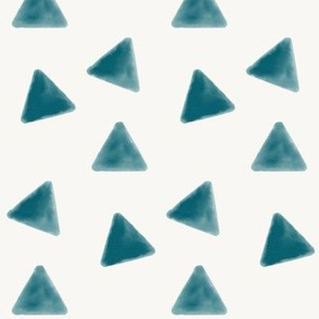 Watercolor triangles - indigo blue || by sunny afternoon