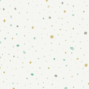 Gender Neutral Dots - teal & gold