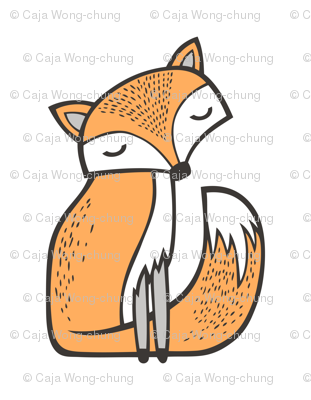Dreamy Fox Pillow Plush Plushie Softie Cut & Sew