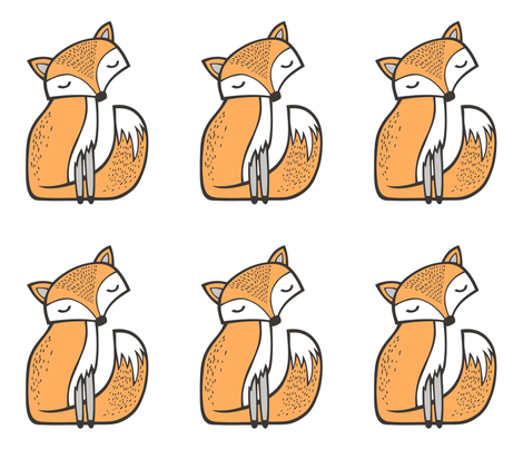 Dreamy Fox Pillow Plush Plushie Softie Cut & Sew fabric by caja_design on Spoonflower - custom fabric