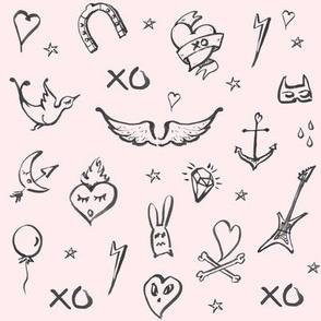 Tattoo Rock Pink/Black