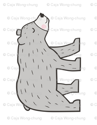 Mountain Bear Pillow Plush Plushie Softie Cut & Sew