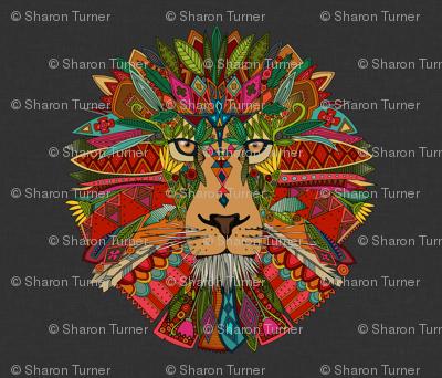 lion lead linen yard panel