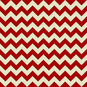 woo chevron red cream