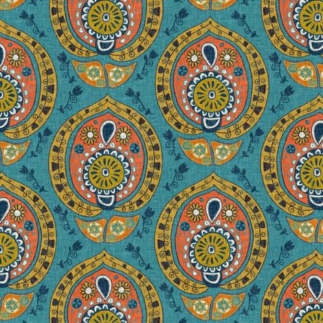 safa blue small fabric by scrummy on Spoonflower - custom fabric
