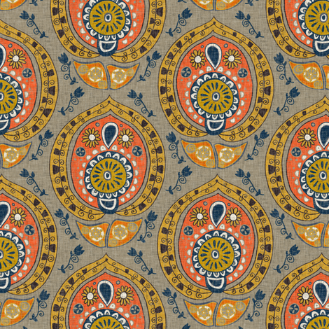 safa natural small fabric by scrummy on Spoonflower - custom fabric