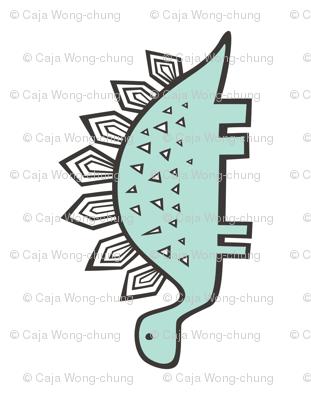 Stegosaurus Dinosaur Pillow Plush Plushie Softie Cut & Sew