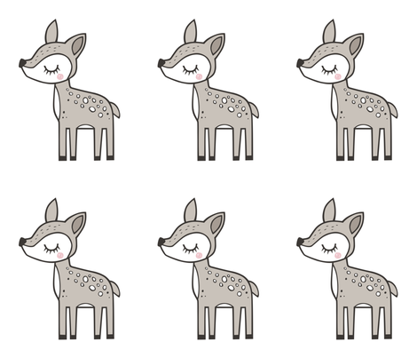 Deer Pillow Plush Plushie Softie Cut & Sew fabric by caja_design on Spoonflower - custom fabric