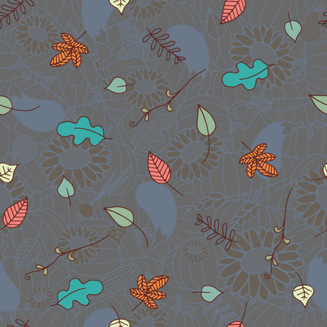 Scattered Leaves fabric by seesawboomerang on Spoonflower - custom fabric