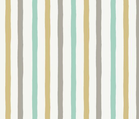 Irregular stripes - Neutral Baby - PALE fabric by crumpetsandcrabsticks on Spoonflower - custom fabric