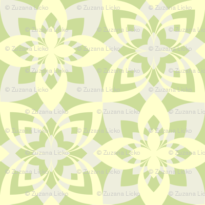 Eight Leaf Flower - Yellow Green