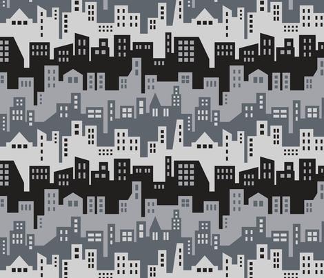 Skyline (Silhouette) fabric by brendazapotosky on Spoonflower - custom fabric