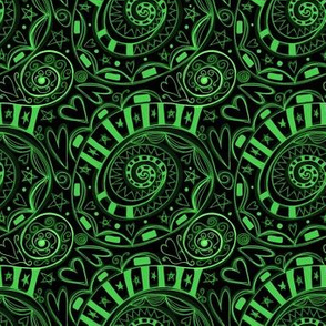 Project 57 | All Heart | Green on Black