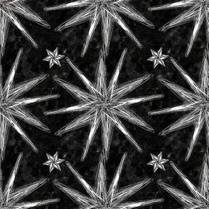 Project 58 | Starburst | Silver on Black