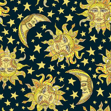 Heavenly Skies fabric by angelastevens on Spoonflower - custom fabric