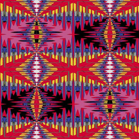 Diamondback (Fuschia) fabric by david_kent_collections on Spoonflower - custom fabric